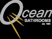 Ocean Bathrooms mockup vector
